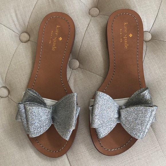 kate spade Shoes | Glitter Bow Sandals